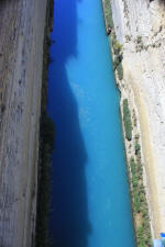 Corinth Canal looking down
